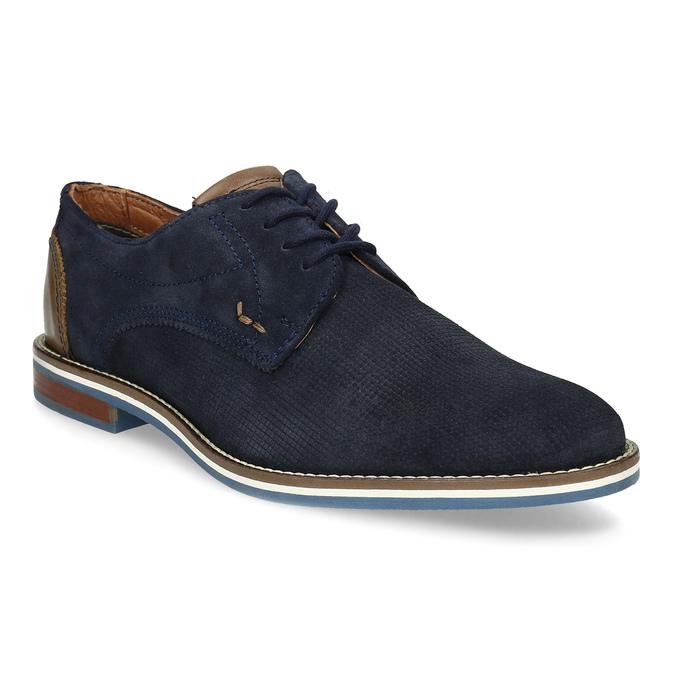 Skórzane półbuty zpodeszwą wpaski bata, niebieski, 823-9600 - 13