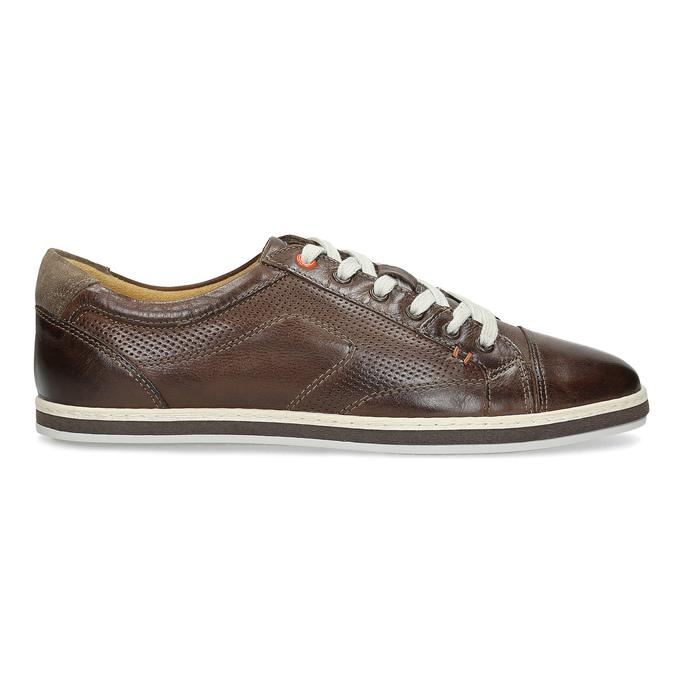 Męskie skórzane buty sportowe bata, brązowy, 846-4617 - 19