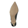 Skórzane czółenka w stylu Sling-back pillow-padding, czarny, 624-6638 - 26