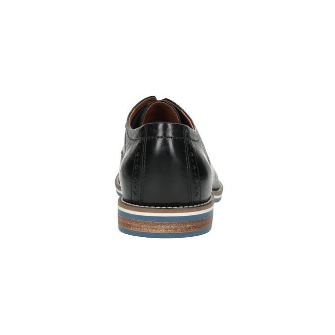 Skórzane półbuty zpodeszwą wpaski bata, czarny, 826-6790 - 17