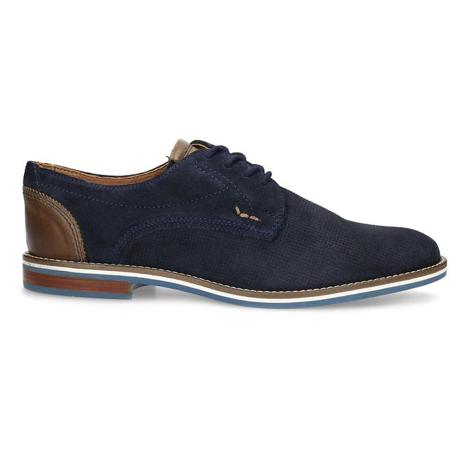 Skórzane półbuty zpodeszwą wpaski bata, niebieski, 823-9600 - 19