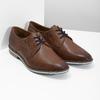 Brązowe półbuty ze skóry, zpodeszwą wpaski bata, brązowy, 826-4790 - 26