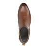 Skórzane botki typu chelsea zperforacją bata, brązowy, 596-4644 - 19