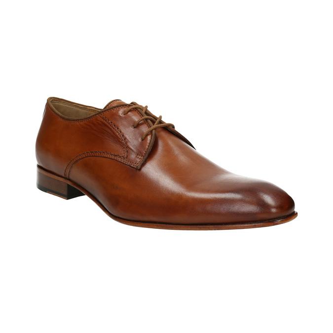 Półbuty męskie ze skóry bata, brązowy, 826-3836 - 13