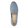 Damskie skórzane buty z perforacją bata, niebieski, 516-9601 - 19