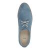 Niebieskie skórzane półbuty bata, niebieski, 523-9600 - 19