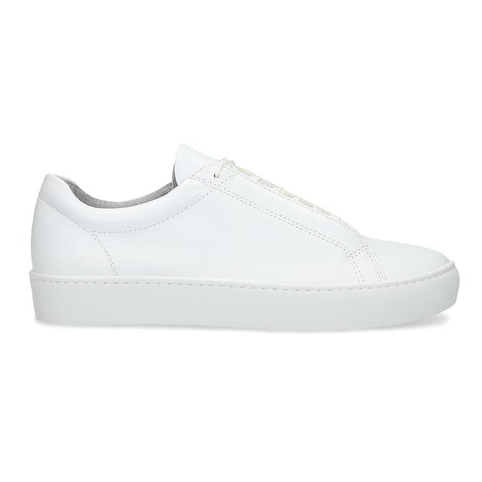 Białe skórzane trampki damskie vagabond, biały, 624-1019 - 19