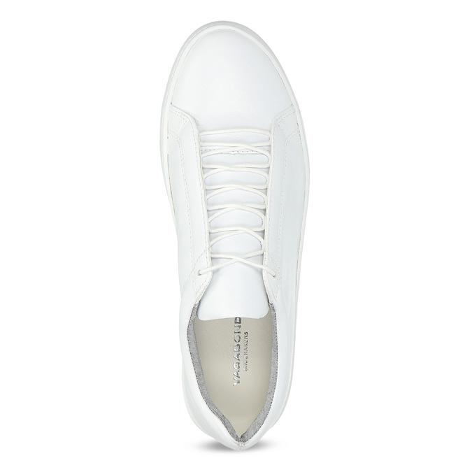 Białe skórzane trampki damskie vagabond, biały, 624-1019 - 17