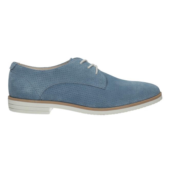 Niebieskie skórzane półbuty bata, niebieski, 523-9600 - 15