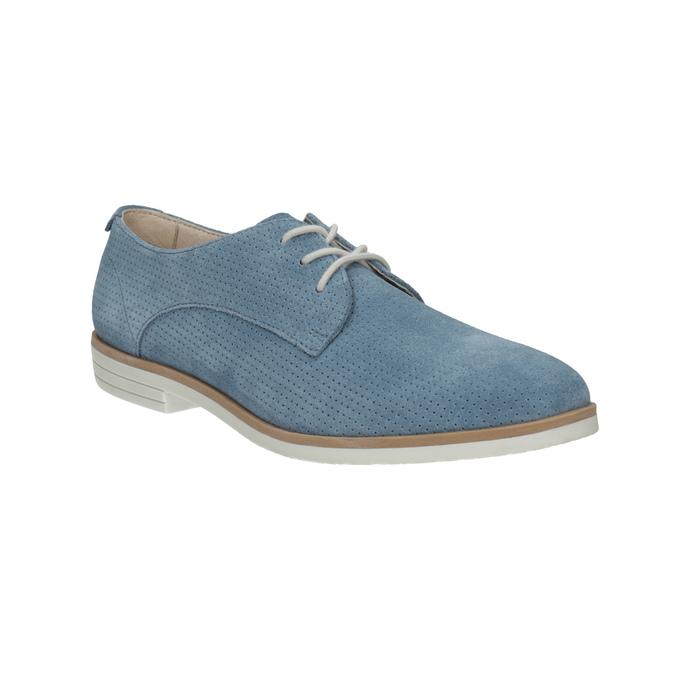 Niebieskie skórzane półbuty bata, niebieski, 523-9600 - 13