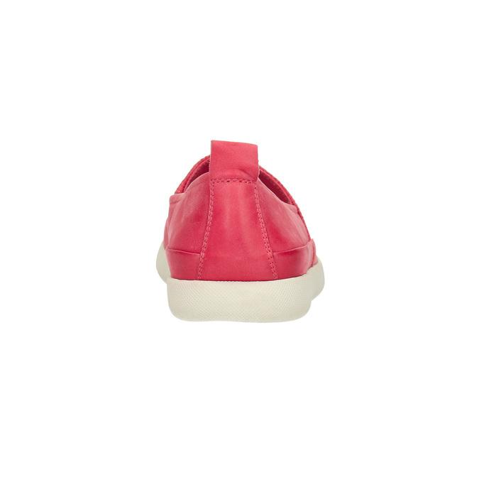 Skórzane buty z perforacją bata, różowy, 516-5601 - 17