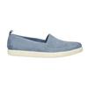 Damskie skórzane buty z perforacją bata, niebieski, 516-9601 - 15