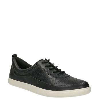 Skórzane damskie buty sportowe bata, czarny, 526-6618 - 13