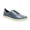 Niebieskie skórzane trampki damskie bata, niebieski, 526-9618 - 13