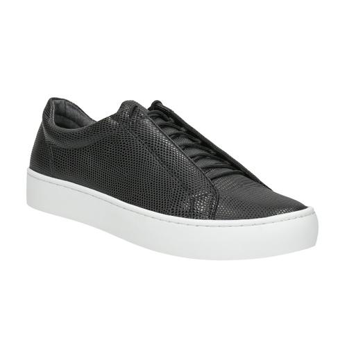 Czarne skórzane buty sportowe vagabond, czarny, 624-6014 - 13