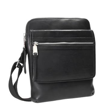 Skórzana torba męska typu crossbody bata, czarny, 964-6237 - 13