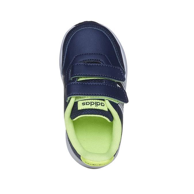 Trampki dziecięce na rzepy adidas, niebieski, 109-9163 - 19