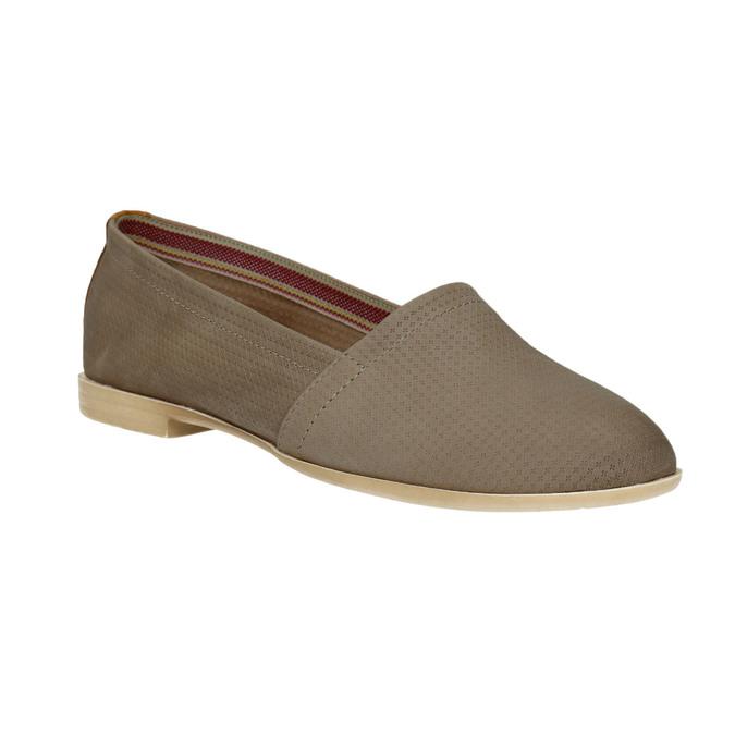 Damskie skórzane buty Slip On bata, brązowy, 516-2602 - 13