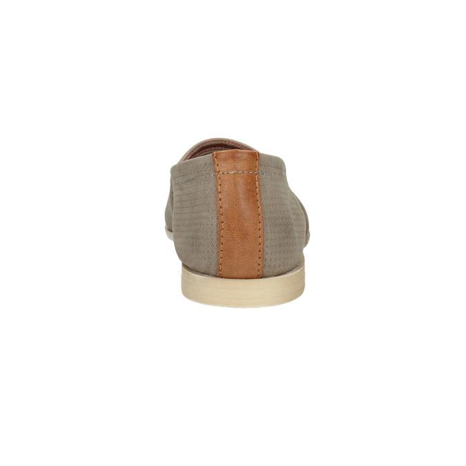Damskie skórzane buty Slip On bata, brązowy, 516-2602 - 17