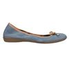 Skórzane niebieskie baleriny zelastyczną lamówką bata, niebieski, 526-9617 - 15