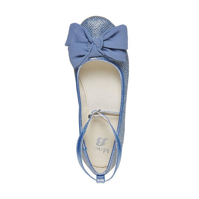 Niebieskie baleriny dziewczęce mini-b, niebieski, 329-9241 - 19