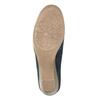 Skórzane mokasyny damskie oszerokościH bata, niebieski, 523-9603 - 26
