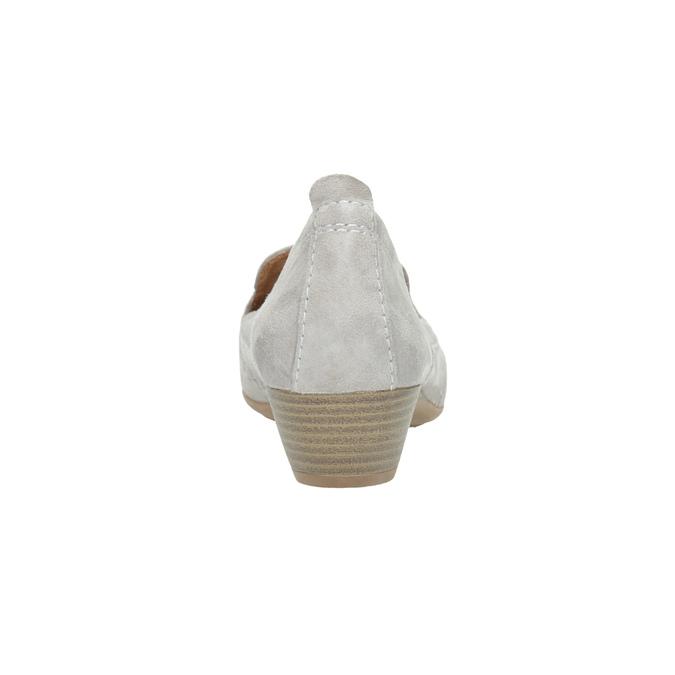 Skórzane mokasyny damskie oszerokościH bata, szary, 523-2603 - 17