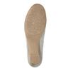 Skórzane mokasyny damskie oszerokościH bata, szary, 523-2603 - 26