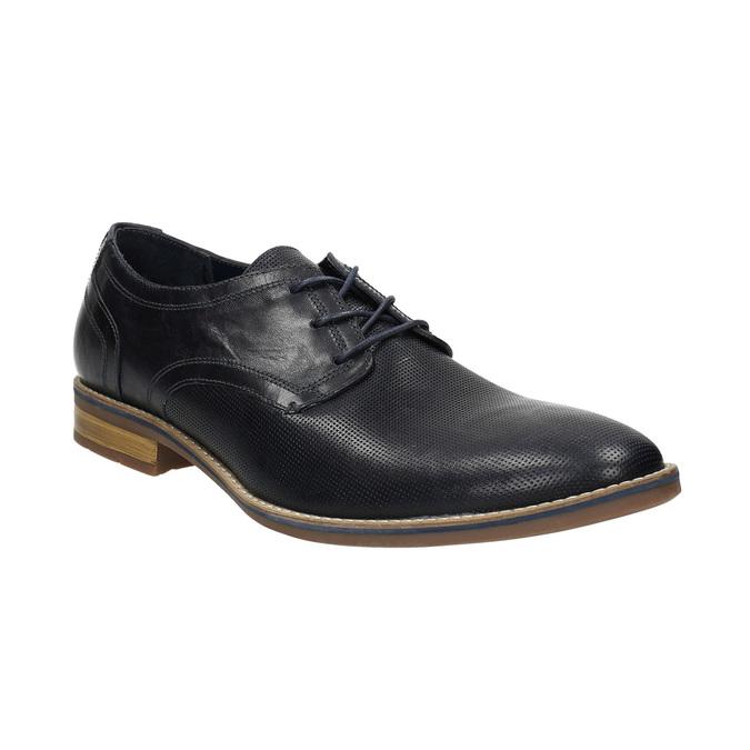 Nieformalne półbuty męskie ze skóry bata, niebieski, 826-9817 - 13