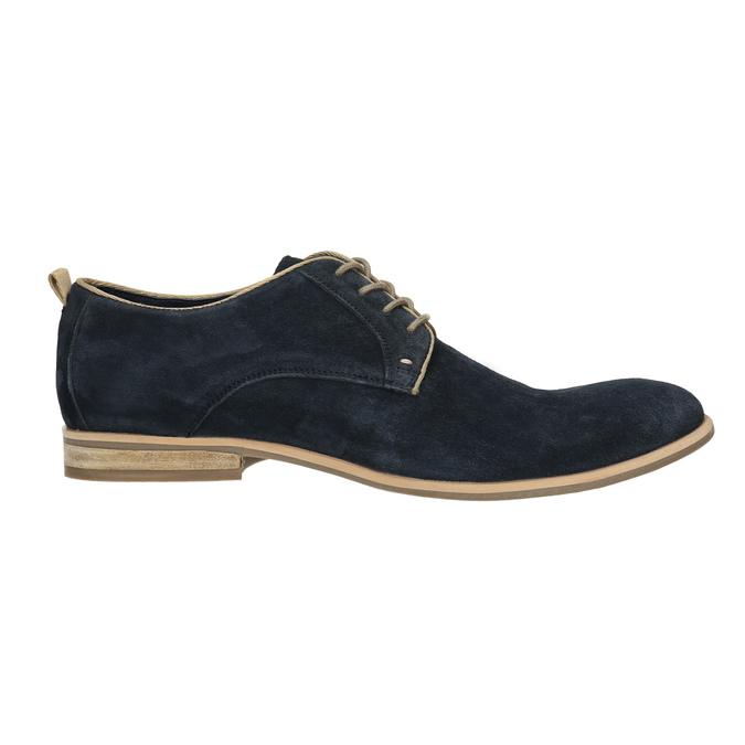 Półbuty z zamszowej skóry bata, niebieski, 823-9602 - 15