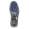 Nieformalne półbuty ze skóry bata, niebieski, 853-9612 - 19