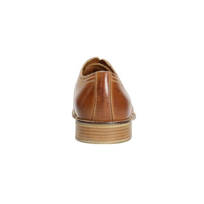 Skórzane półbuty typu angielki bata, brązowy, 826-3802 - 17