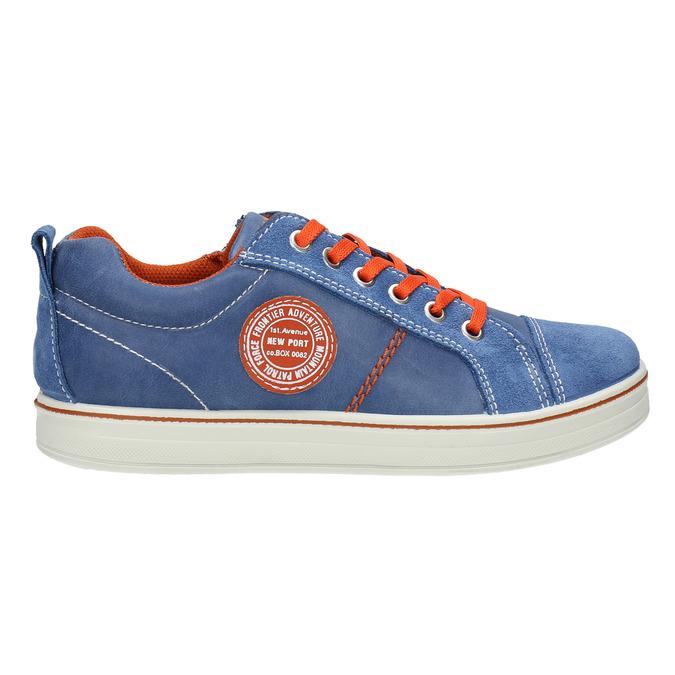 Niebieskie skórzane trampki dziecięce mini-b, niebieski, 313-9601 - 15