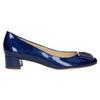 Skórzane czółenka zkokardą hogl, niebieski, 628-9400 - 15