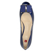 Skórzane czółenka zkokardą hogl, niebieski, 628-9400 - 19