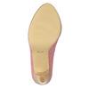 Skórzane czółenka wpaski bata, różowy, 726-5633 - 26