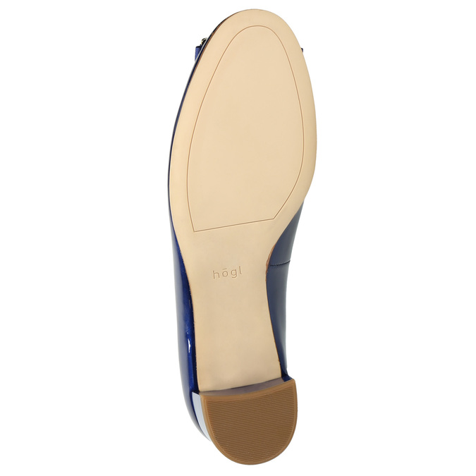 Skórzane czółenka zkokardą hogl, niebieski, 628-9400 - 26