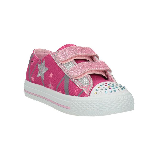 Różowe trampki dziewczęce mini-b, różowy, 229-5183 - 13