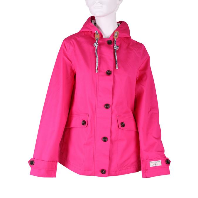 Różowa kurtka damska zkapturem joules, różowy, 979-5010 - 13