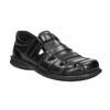 Czarne skórzane sandały męskie bata, czarny, 864-6600 - 13