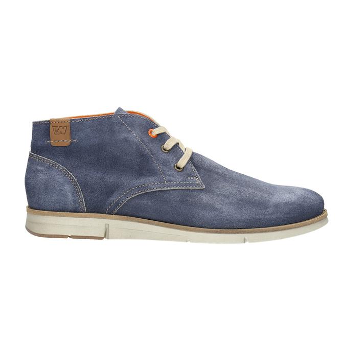 Zamszowe buty za kostkę weinbrenner, niebieski, 843-9625 - 15