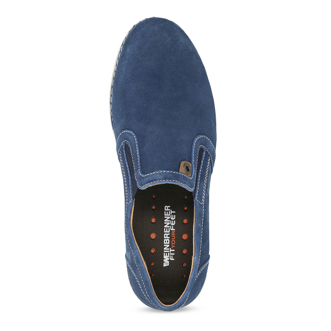 Zamszowe buty Slip-on weinbrenner, niebieski, 833-9601 - 17