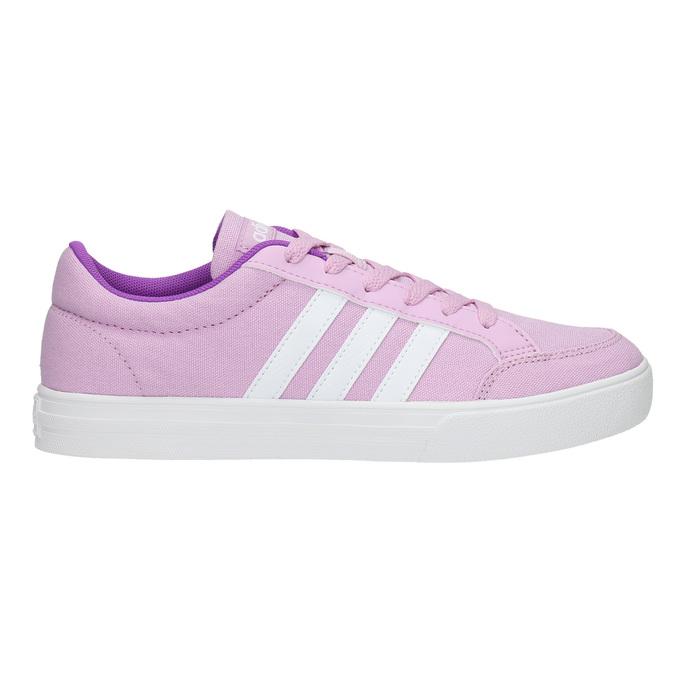 Fioletowe trampki dziewczęce adidas, fioletowy, 489-9119 - 15