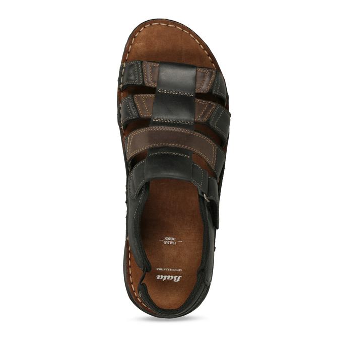 Letnie zamszowe sandały męskie bata, brązowy, 866-4610 - 17