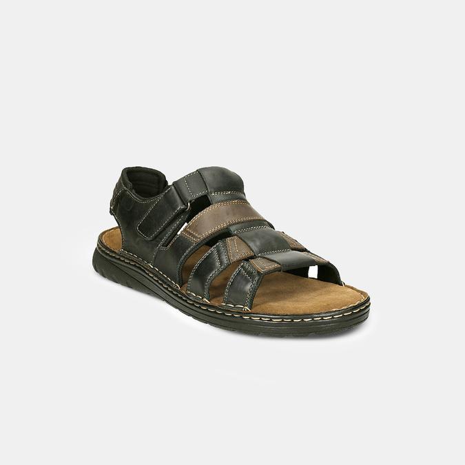 Letnie zamszowe sandały męskie bata, brązowy, 866-4610 - 26