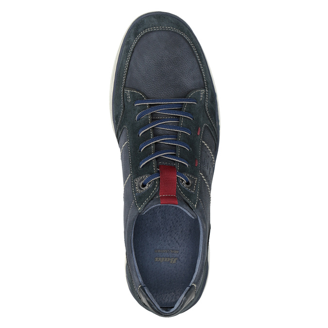 Nieformalne zamszowe trampki bata, niebieski, 846-9639 - 17