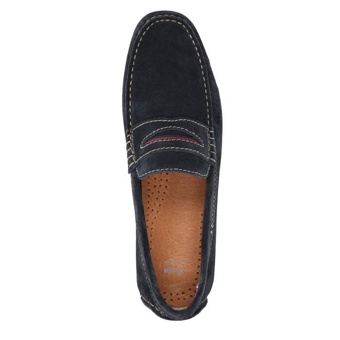 Zamszowe mokasyny bata, niebieski, 853-9614 - 19