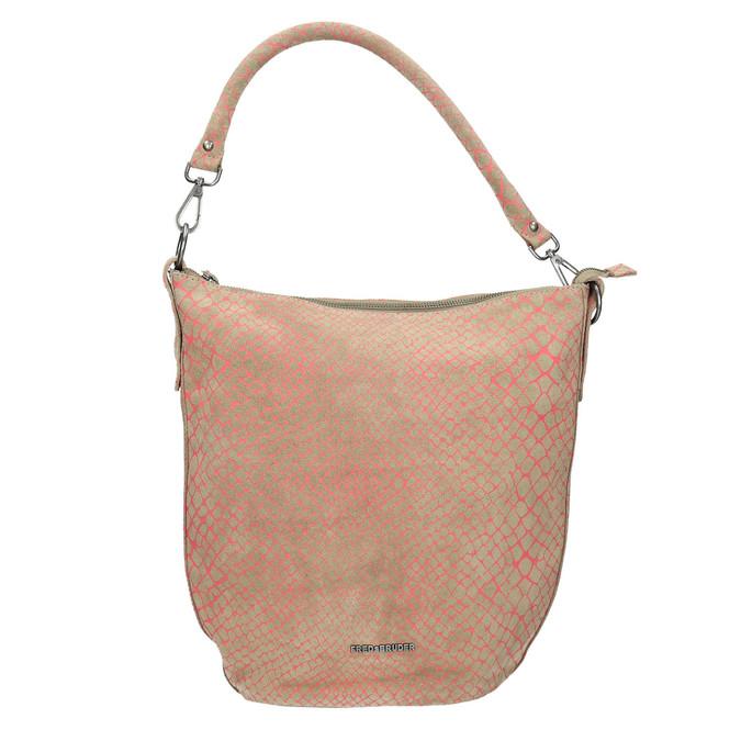 Skórzana torba damska wstylu hobo fredsbruder, beżowy, 963-5030 - 19