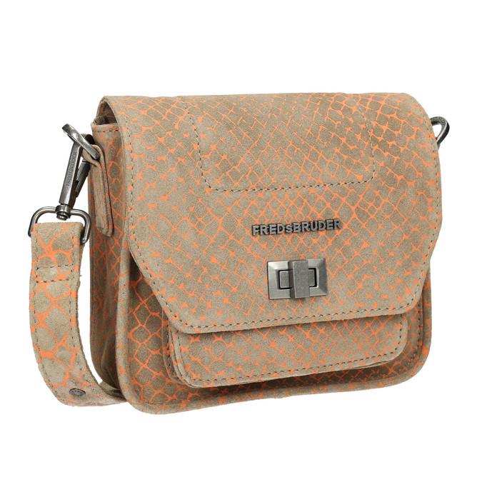 Skórzana torba damska typu crossbody fredsbruder, brązowy, 963-8032 - 13