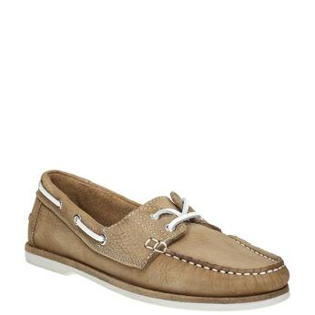 Skórzane mokasyny damskie bata, brązowy, 526-4632 - 13